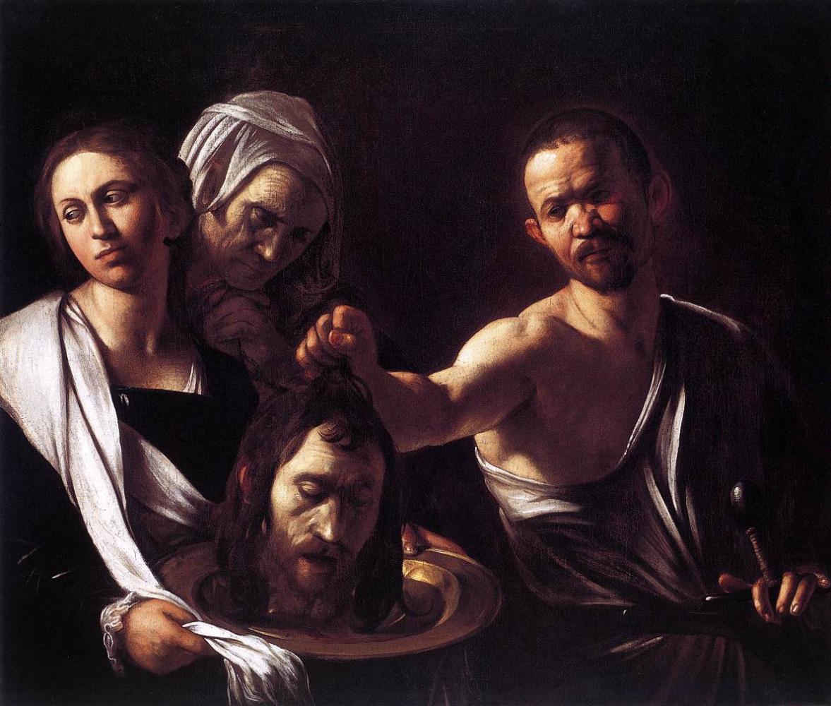 Michelangelo Merisi de Caravaggio. Salome with the head of John the Baptist