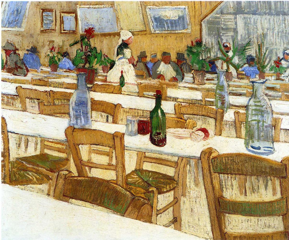 Vincent van Gogh. The interior of the restaurant Carrel in Arles