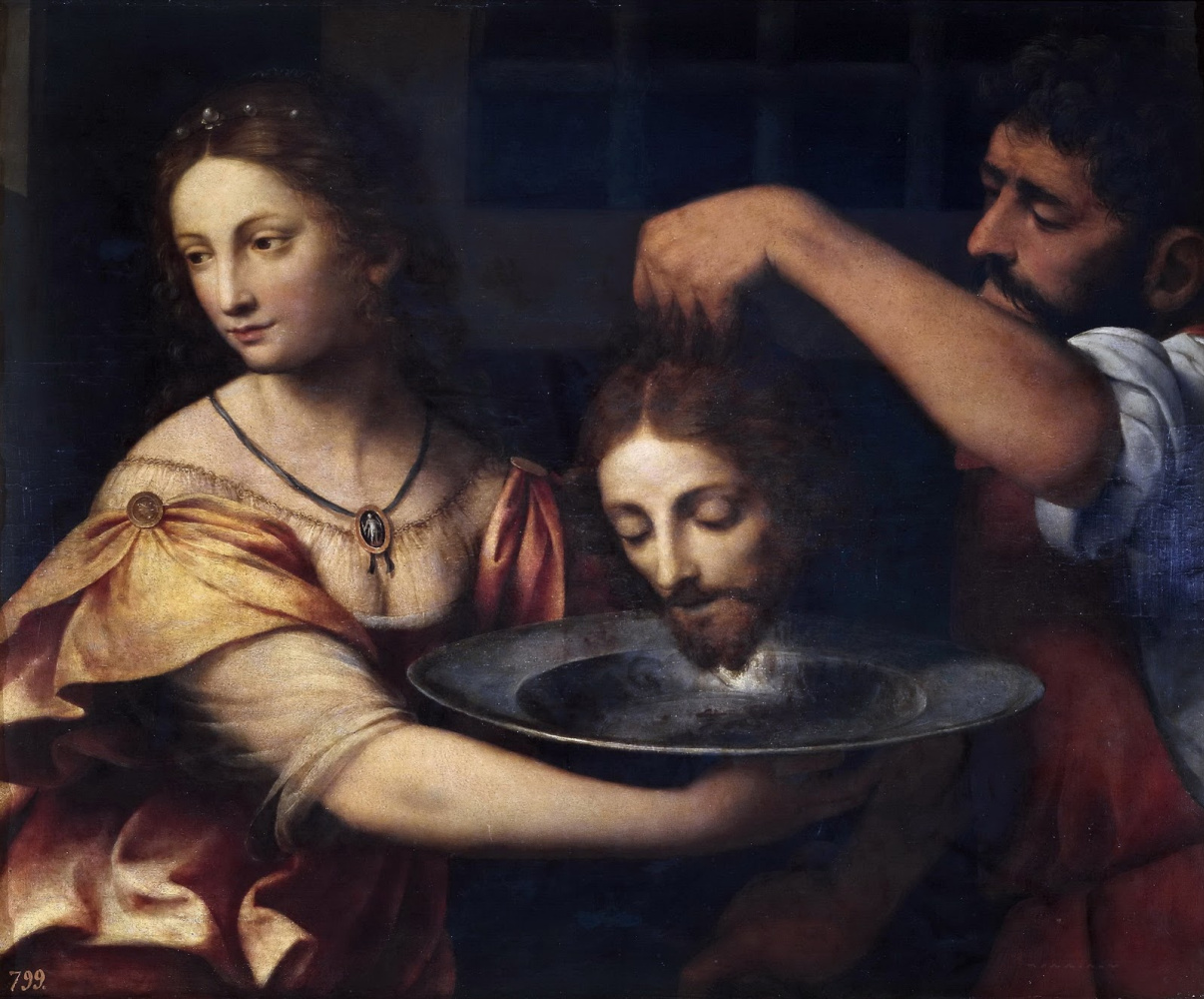 Bernardino Luini. Salome with the head of Saint John the Baptist