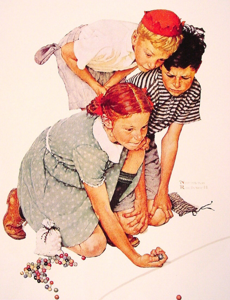 Norman Rockwell. Marbles champion