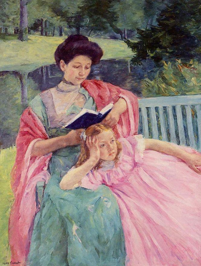 Мэри Кассат. Августа, читающая своей дочери