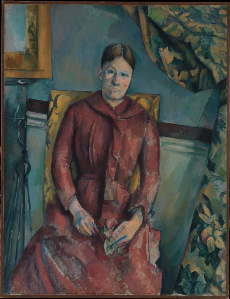 Поль Сезанн. Портрет мадам Сезанн в желтом кресле