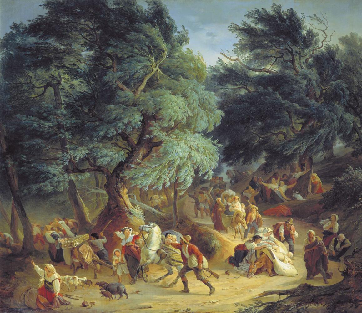 Peter Vasilyevich Basin Russia 1793-1877. Earthquake in Rocca di Papa near Rome. 1830