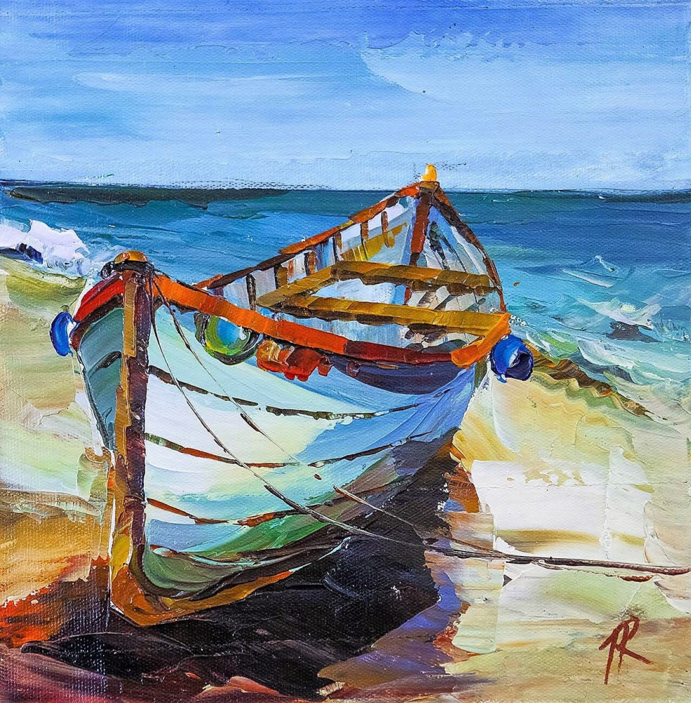 Jose Rodriguez. A boat. On the Mediterranean coast N2