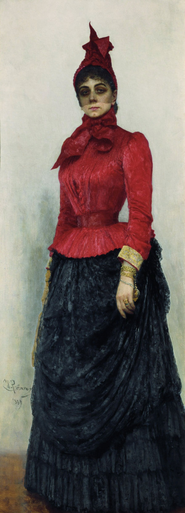 Ilya Efimovich Repin. Portrait of the Baroness V. I. Ikskul von Hildenbandt