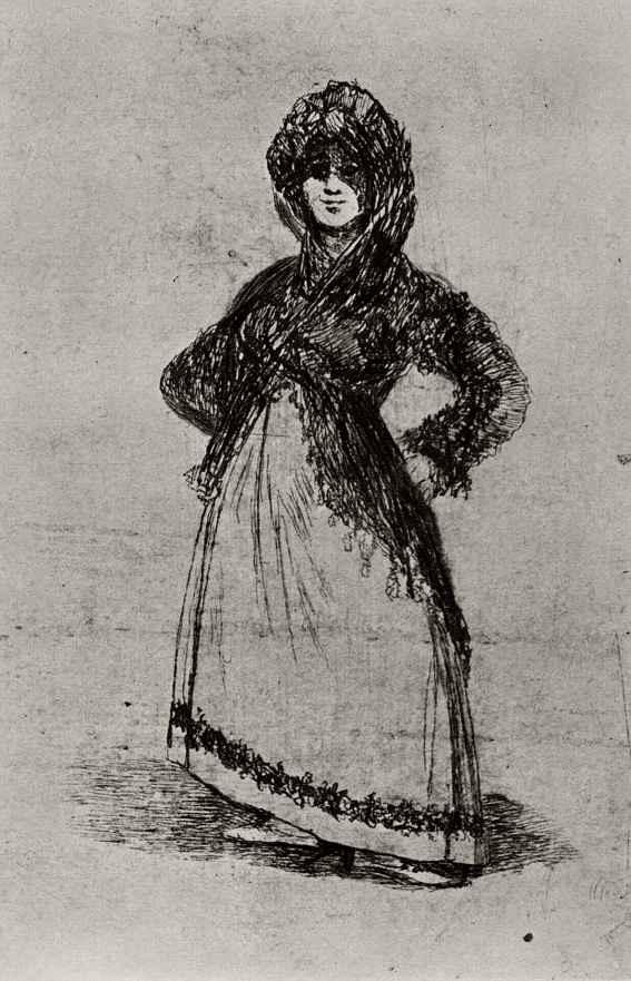 Франсиско Гойя. Девушка в мантилье (Маха на светлом фоне)