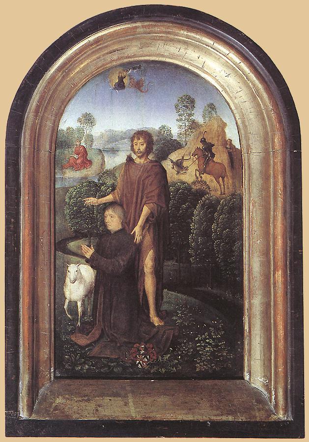Ганс Мемлинг. Иоанн Креститель. Диптих Жана де Селье. Правая створка