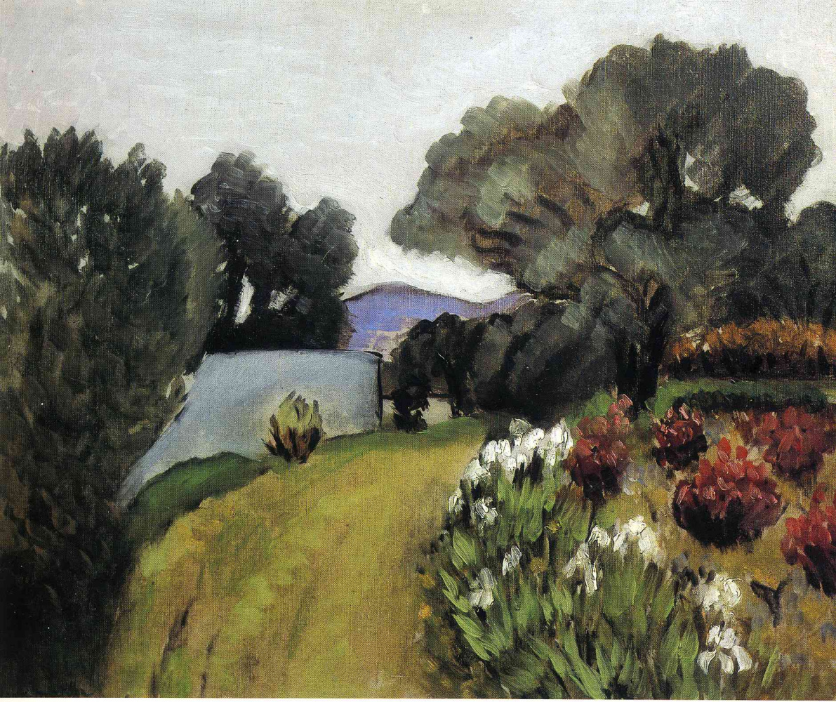 Анри Матисс. Пейзаж с цветами и деревьями