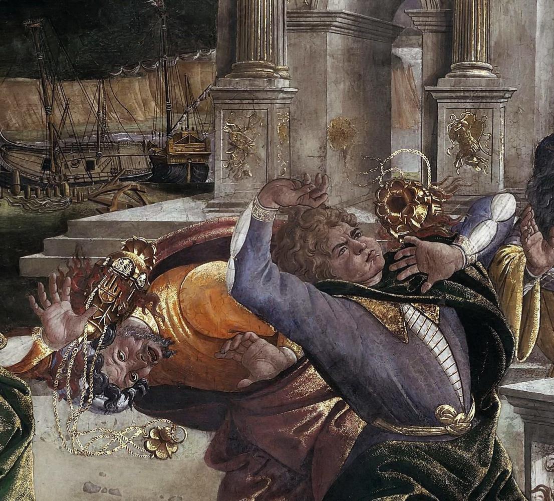 Сандро Боттичелли. Наказание восставших Левитов (фрагмент)