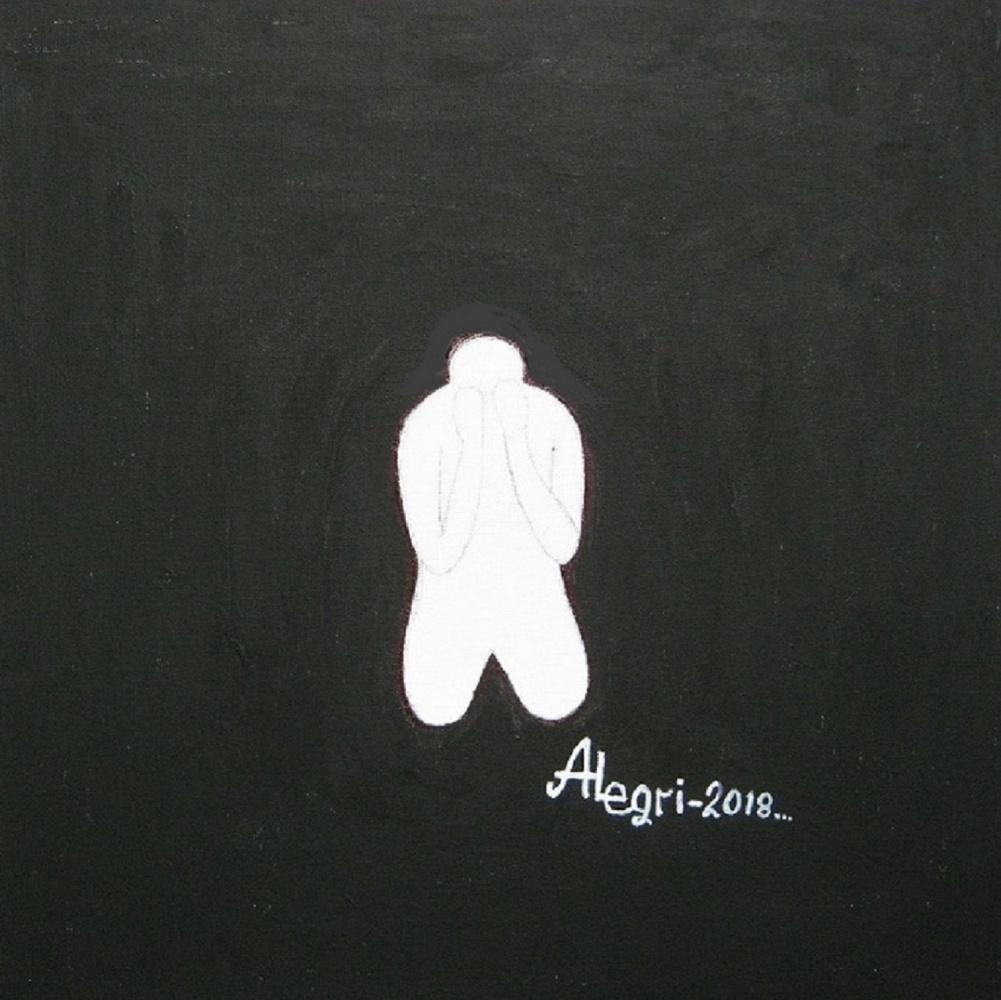 "Alexey Grishankov (Alegri). ""White Man in a Black Square"" (White Man in a Black Square)"