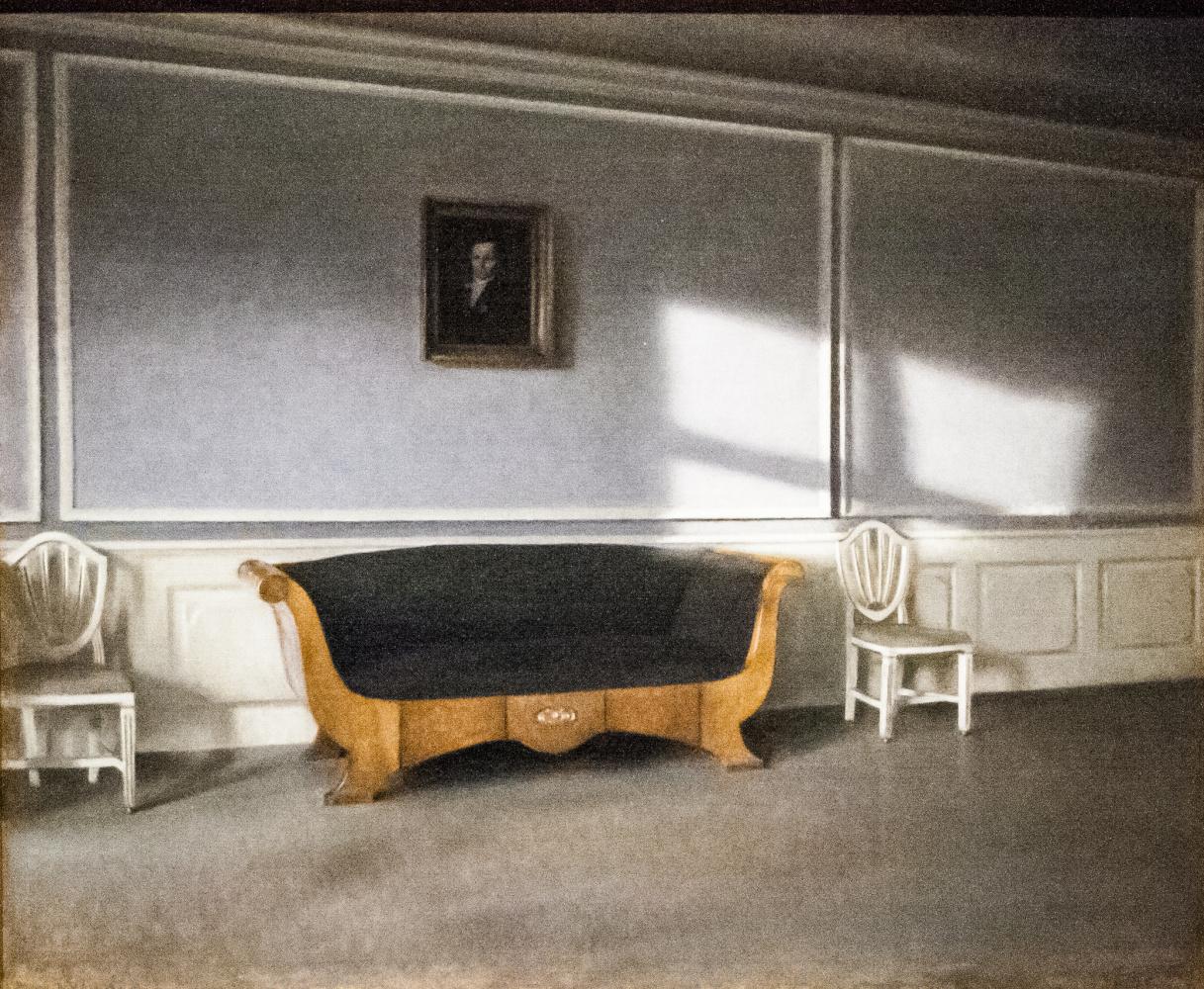 Вильгельм Хаммерсхёй. Солнце в гостиной
