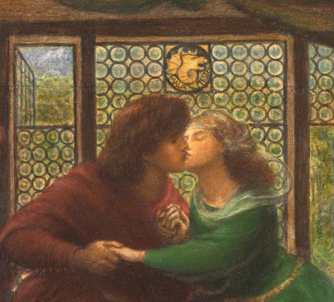 Данте Габриэль Россетти. Паоло и Франческа да Римини. Фрагмент