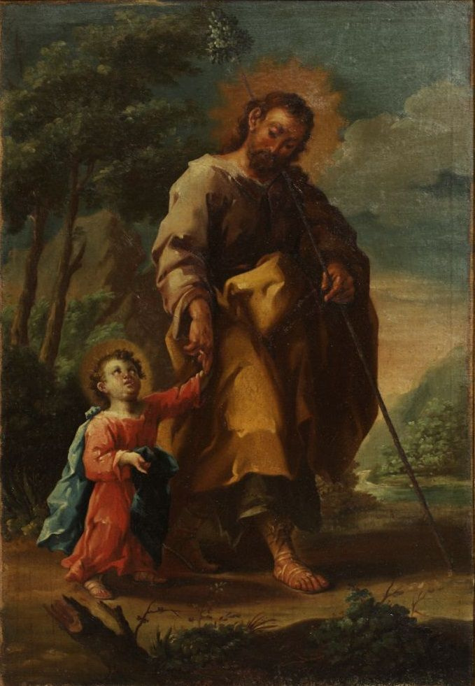 Jose Lusan-i-Martinez. Saint Joseph with baby Jesus