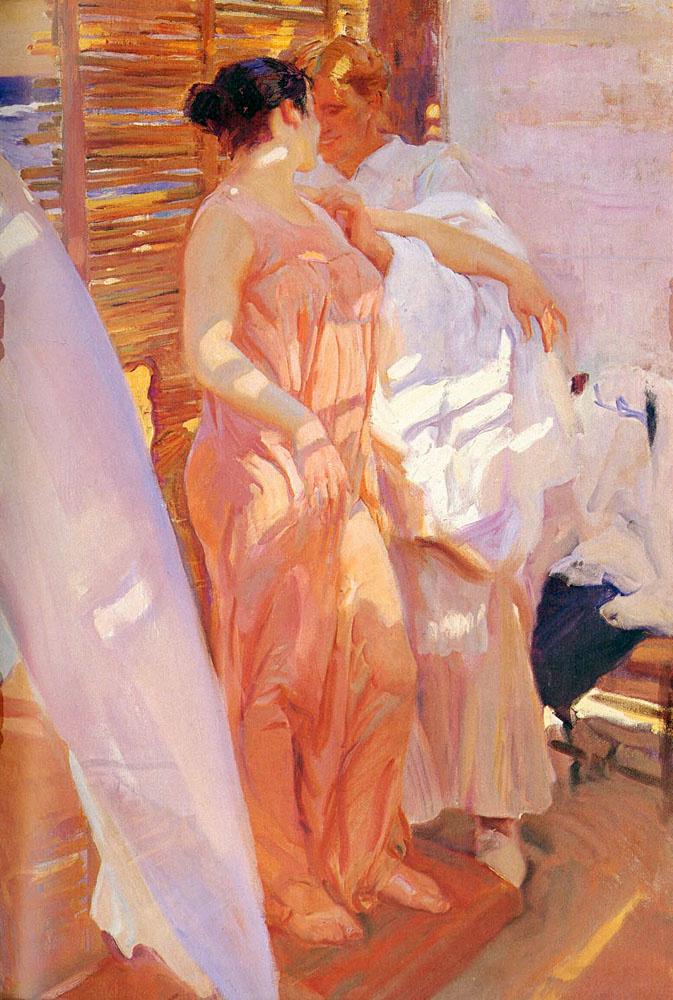 Хоакин Соролья (Соройя). После купания, или Розовый халат