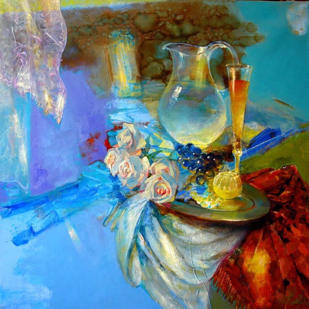 Evgeny Anatoleviz Babushkin. Blue still life