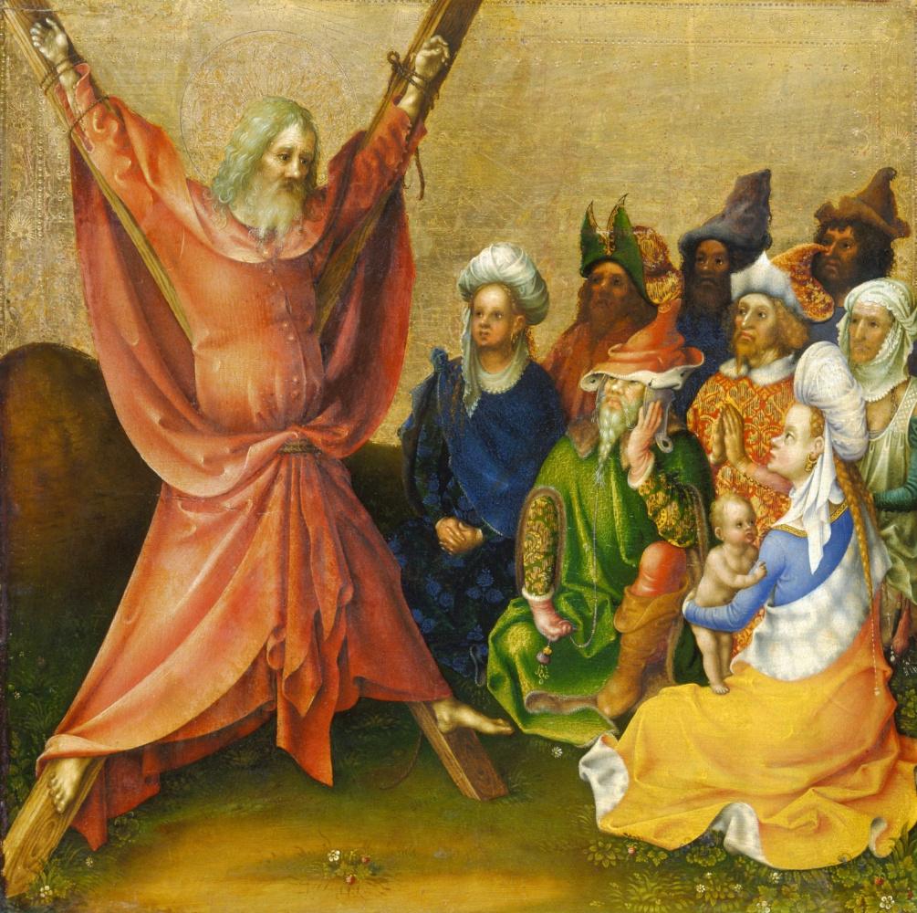 Stefan Lochner. The Martyrdom of St. Andrew.