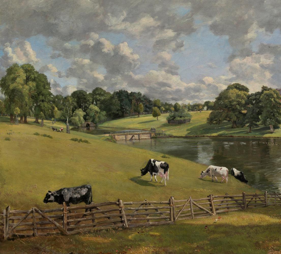 John Constable. Park Wivenhoe, Essex. Snippet: pasture
