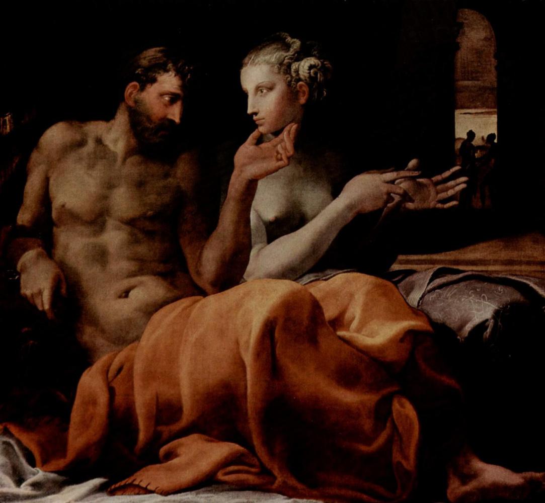 Франческо Приматиччо. Одиссей и Пенелопа