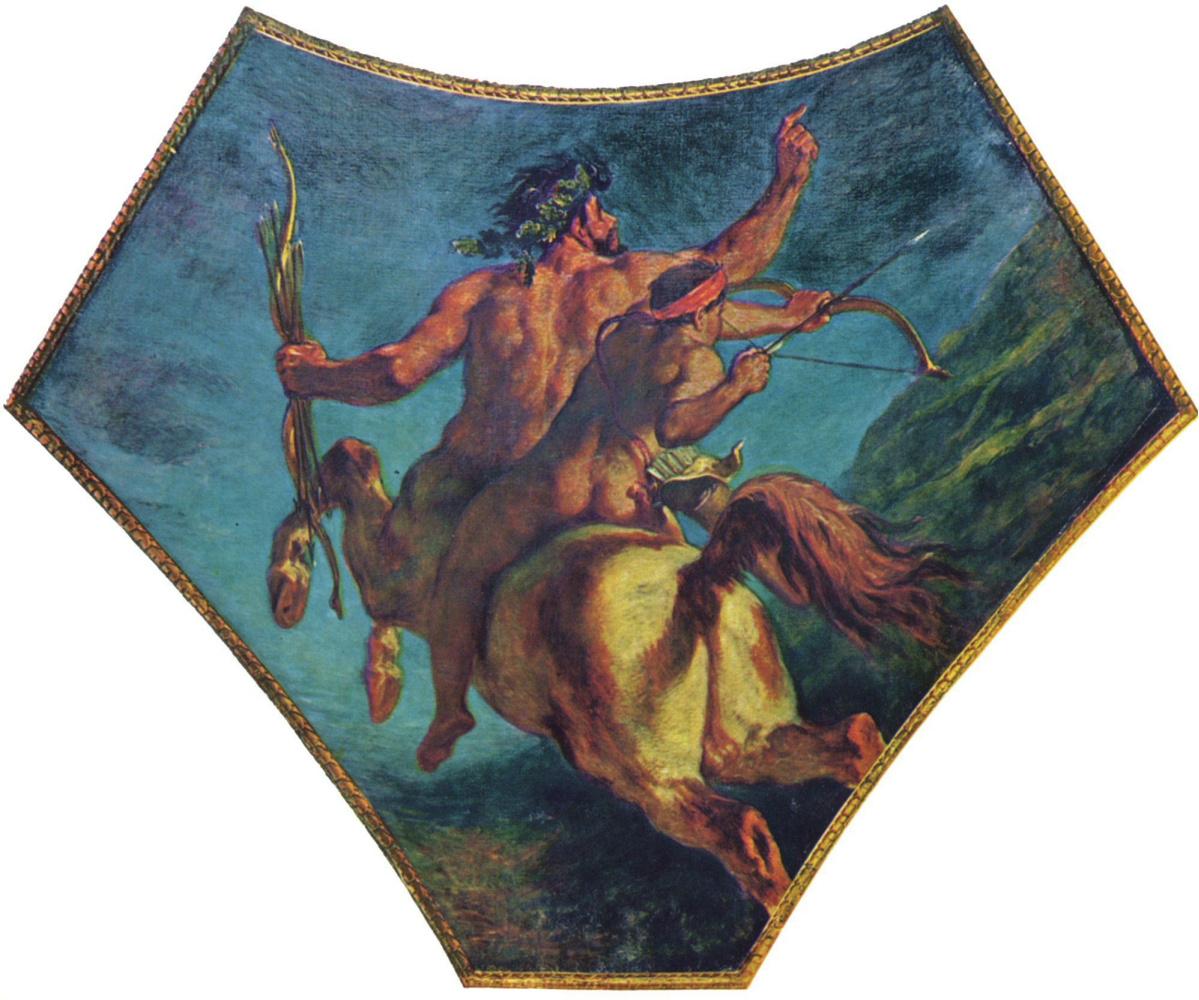 Eugene Delacroix. The education of Achilles, fragment