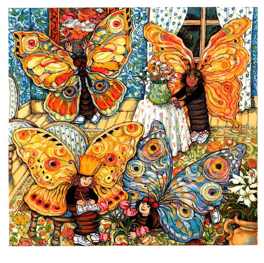 Анита Лобель. Бабочки считают цветы