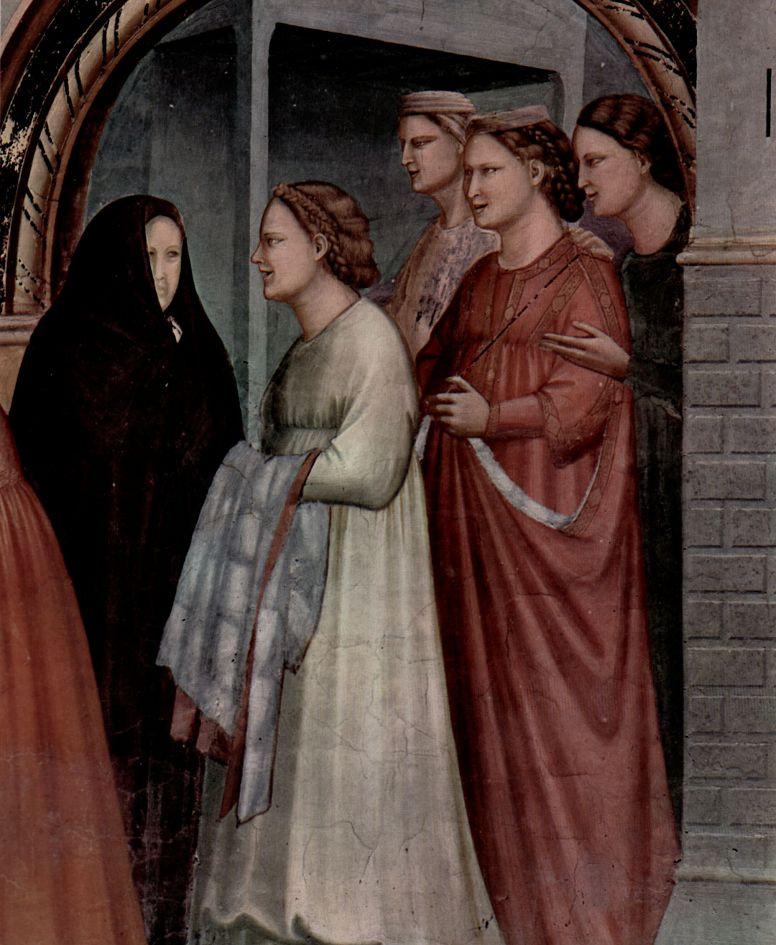 Джотто ди Бондоне. Встреча Иоакима и Анны у Золотых ворот, деталь