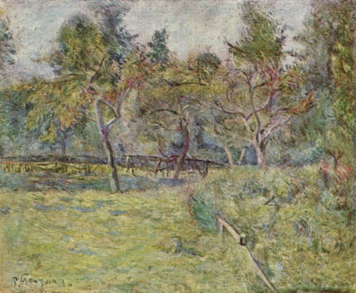 Поль Гоген. Бретонский пейзаж