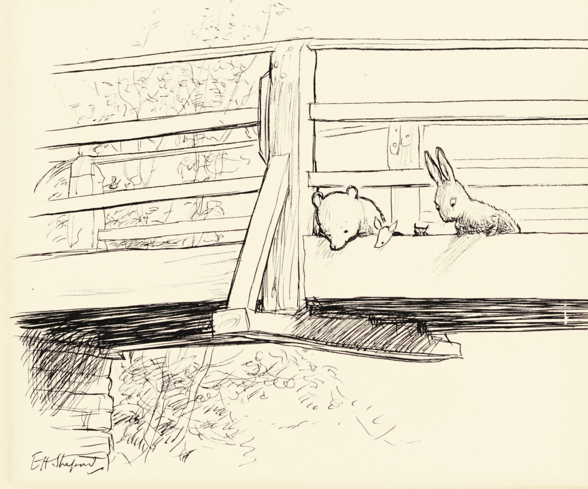 """Ernest Shepard. Game Trivia (front side). Illustration for the book """"Winnie-the-Pooh"""" by A. A. Milne"""