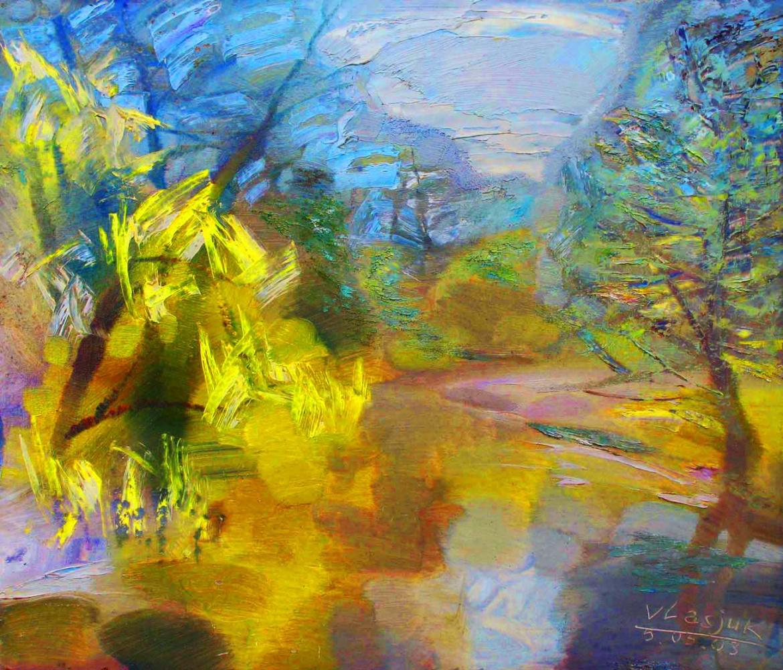 "Alexander Ivanovich Vlasyuk. ""In May"", oil on canvas, 2019, Minsk, Belarus."