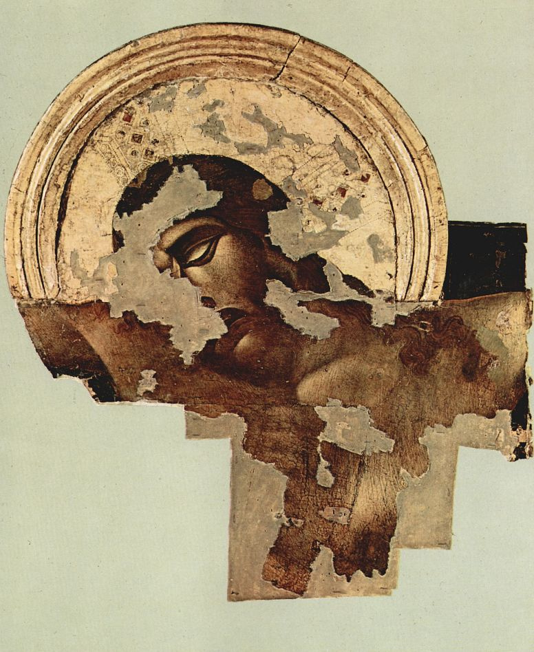 Ченни ди Пепо Чимабуэ. Распятие из Санта Кроче во Флоренции, состояние после 1966, деталь: Христос