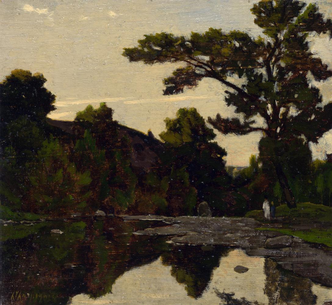 Анри-Жозеф Харпигниес. Сцена у реки