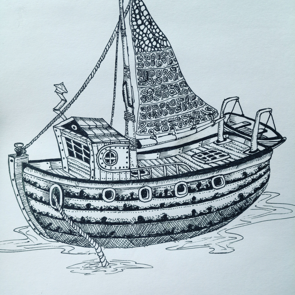 Aydar Daminov. Boat
