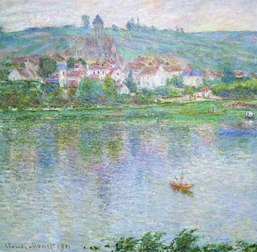 Claude Monet. The Town Of Vétheuil