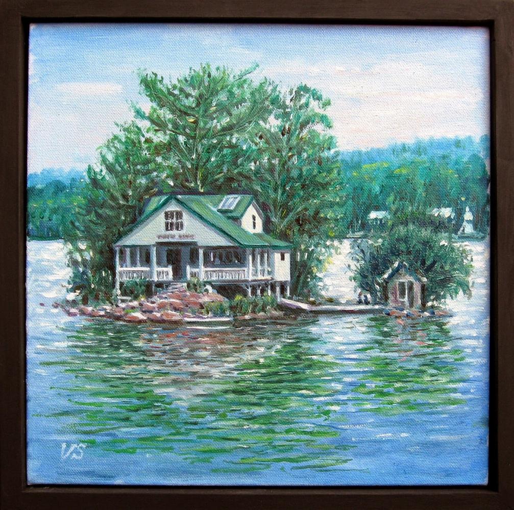 Vladimir Skvortsov. House on the lake