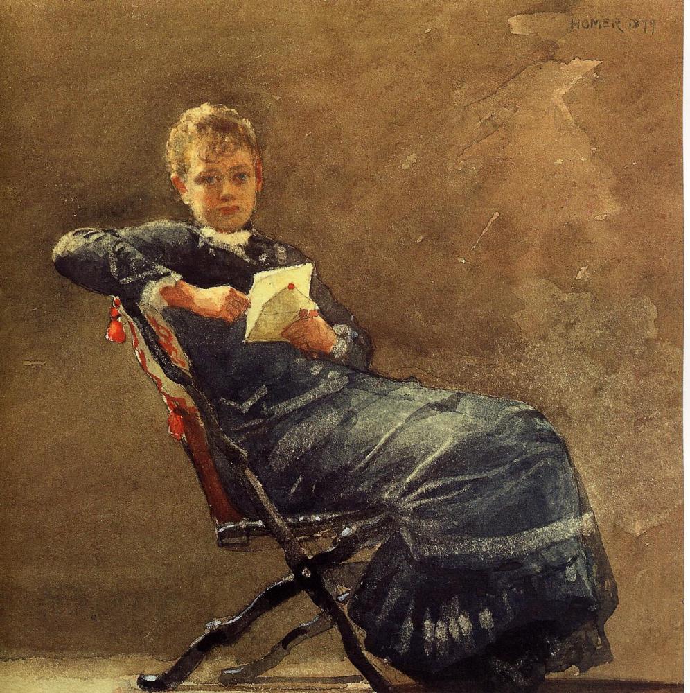 Winslow Homer. Seated girl