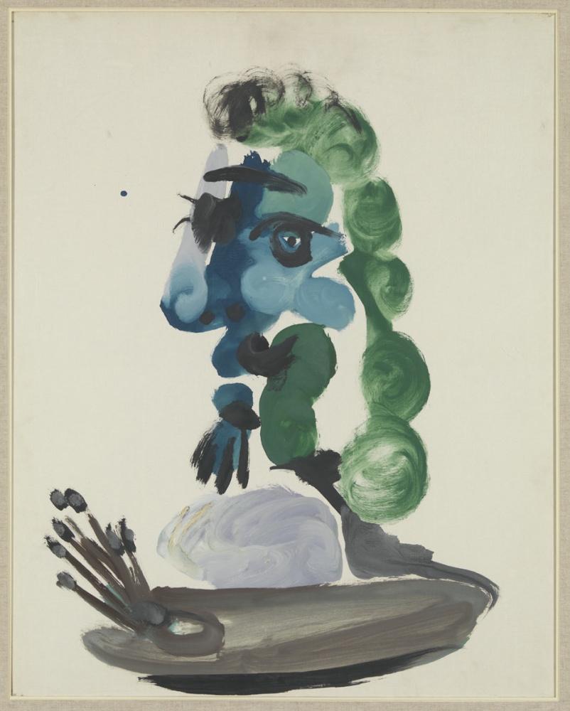 Пабло Пикассо. Бюст в профиль (Веласкес)