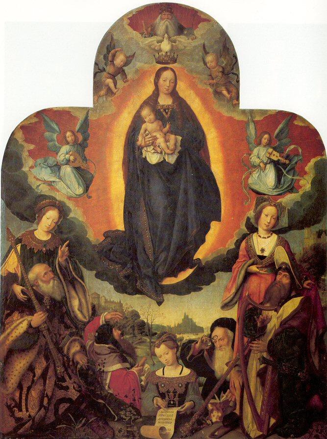 Ян Провост. Богородица и младенец