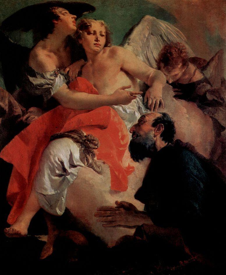 Джованни Доменико Тьеполо. Авраам и ангел