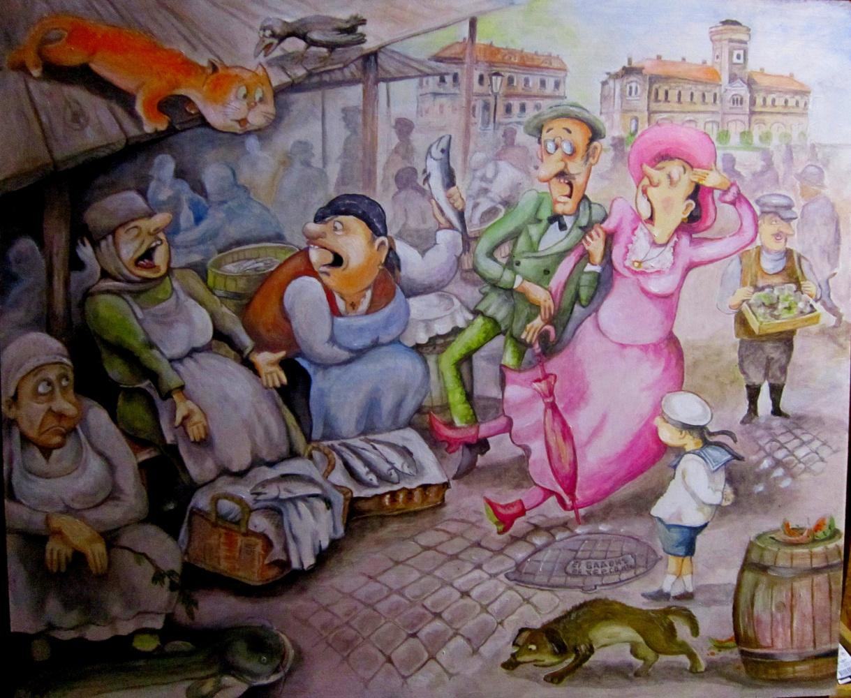 Victor Adolfovich Hop. Fish market in Old Kherson