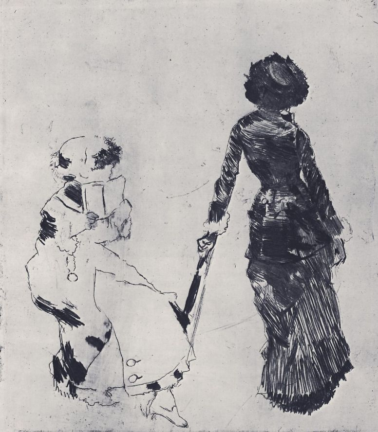 Эдгар Дега. Мэри Кассат в античном отделе Лувра