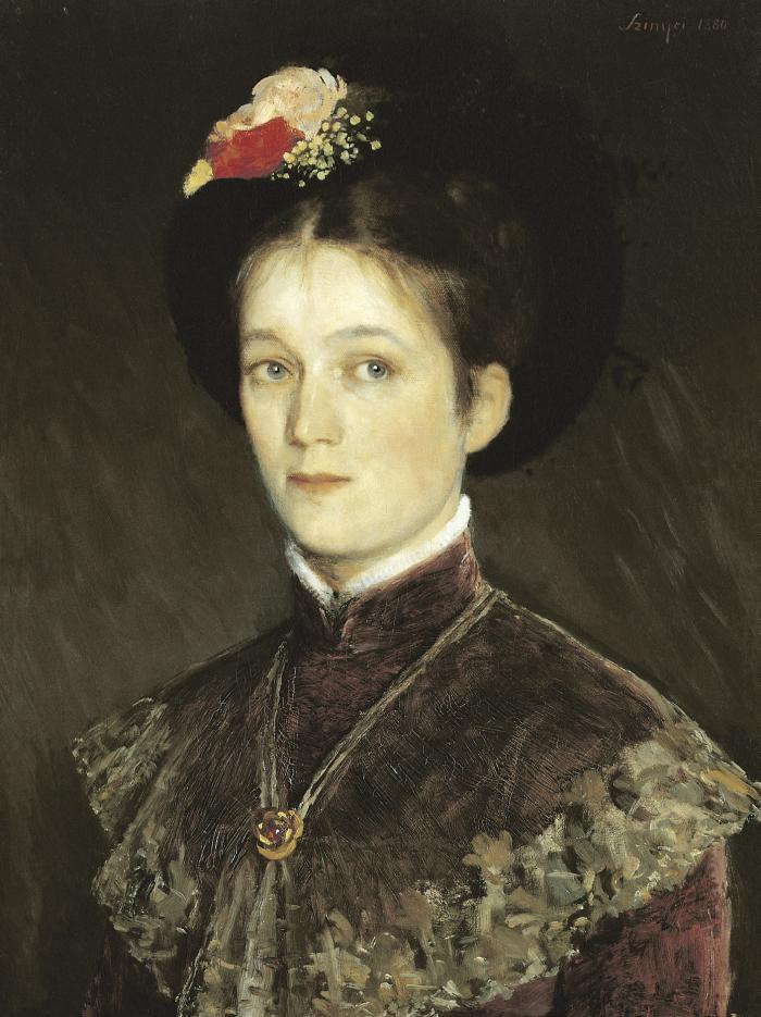 Pál Szinyei Merse. Portrait of the artist's wife