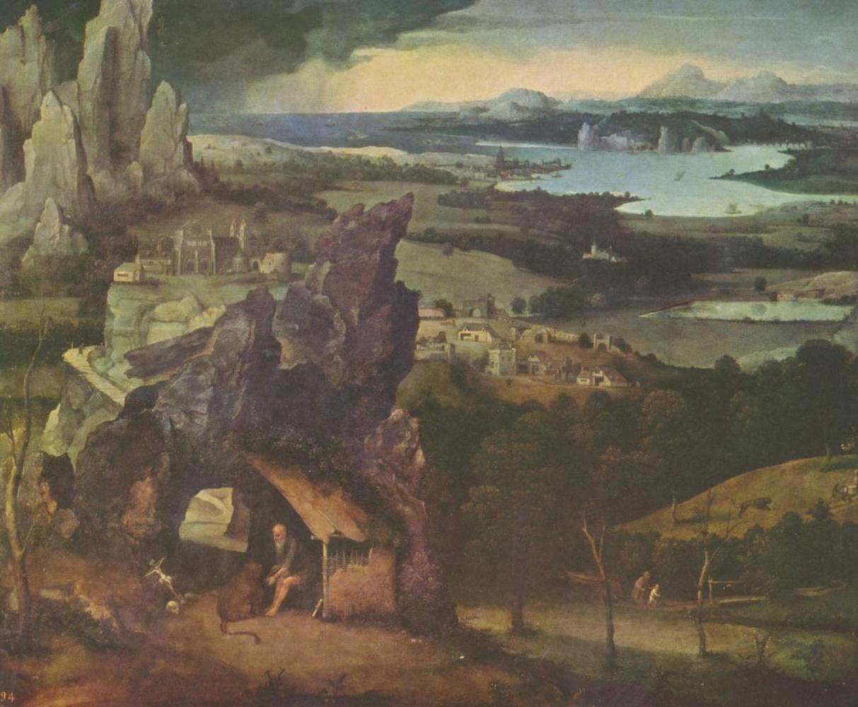 Иоахим Патинир. Пейзаж со св. Иеронимом