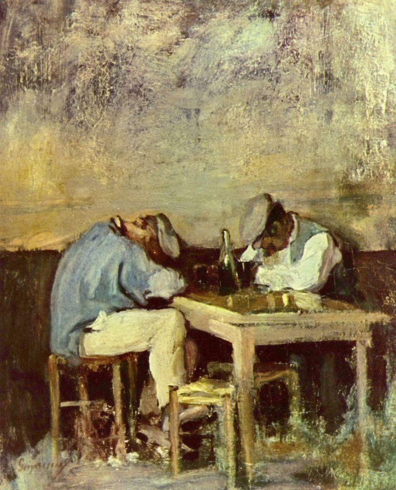 Николае Григореску. Два пьяницы