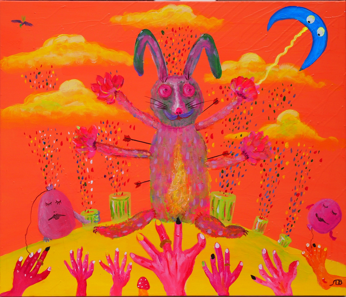 Alexander Vasilyevich Lyapin. An unexpected phenomenon of a rabbit who sees prophetic glitches. All require predictions. But the rabbit knows that this is possible only when his friends wake up balls, contemplating at this time their empty world of happiness and goodness.