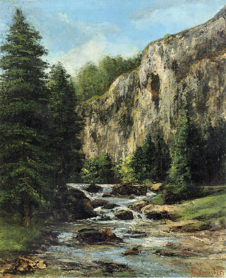 Гюстав Курбе. Пейзаж с водопадом