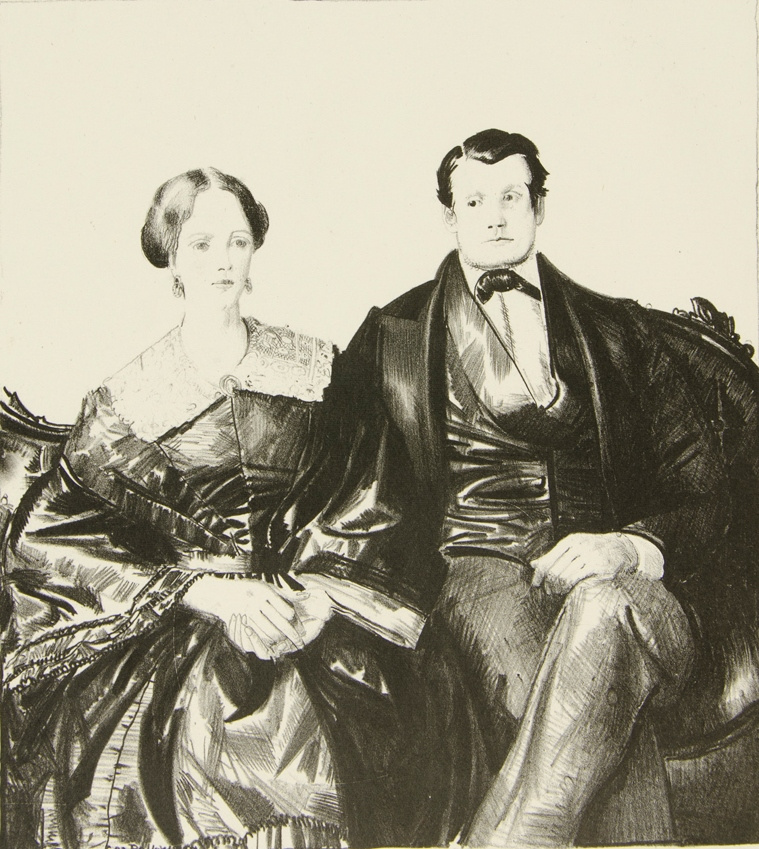 George Wesley Bellows. Auntie Mason and her husband