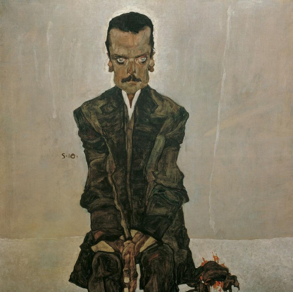 Egon Schiele. Portrait Of Edward Kosmach