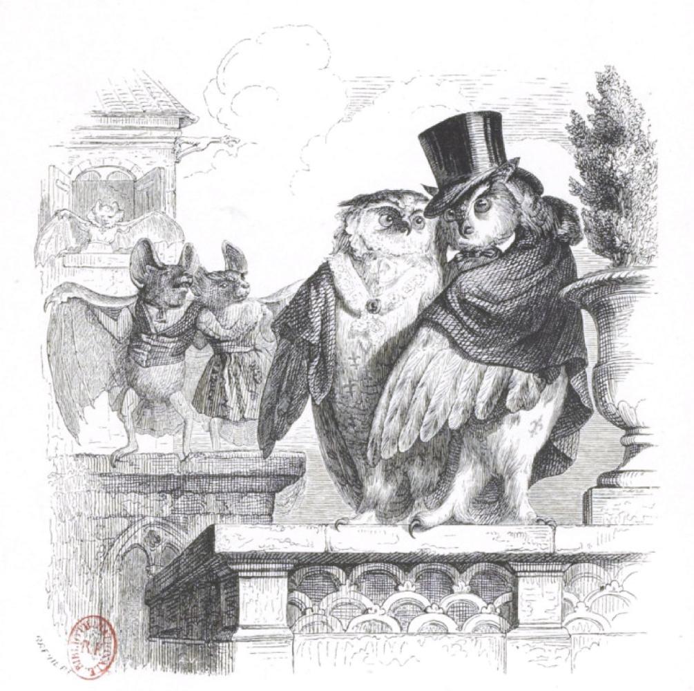 """Жан Иньяс Изидор (Жерар) Гранвиль. Великие Князь и Княгиня. """"Сцены общественной и частной жизни животных"""""""