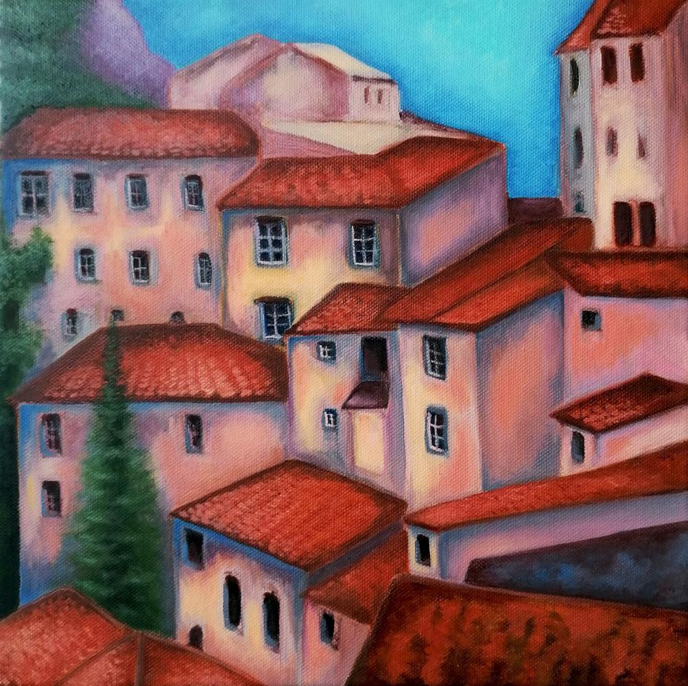 Natalia Shcherbakova. Red roofs of Italy