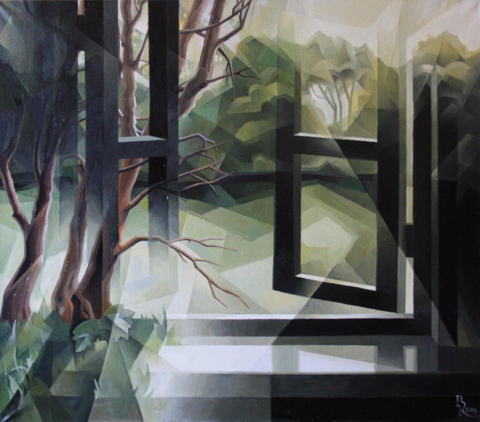 Vasily Krotkov. Witching lake. Post-Cubo-Futurism