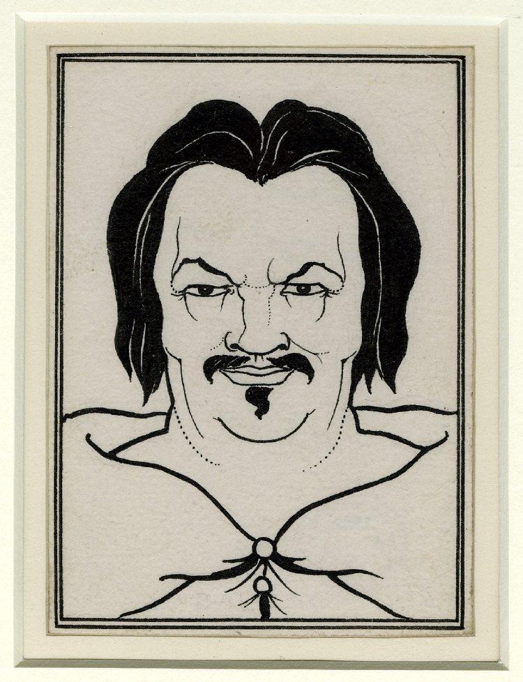 "Aubrey Beardsley. Portrait of Balzac. Illustration for ""Scenes of Parisian Life"""